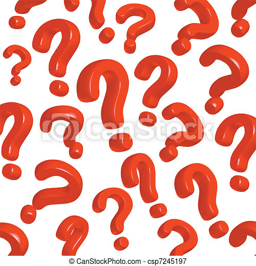 question marks - csp7245197