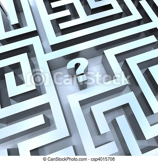 question, -, marque, réponse, labyrinthe, trouver - csp4015708