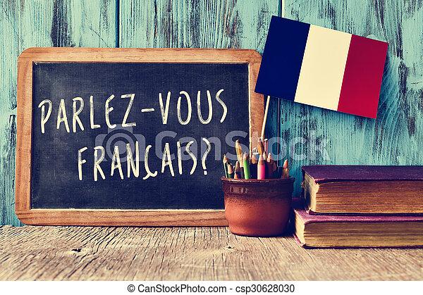 question parlez-vous francais? do you speak french? - csp30628030