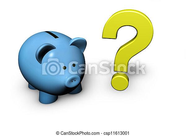 question, tirelire, marque - csp11613001