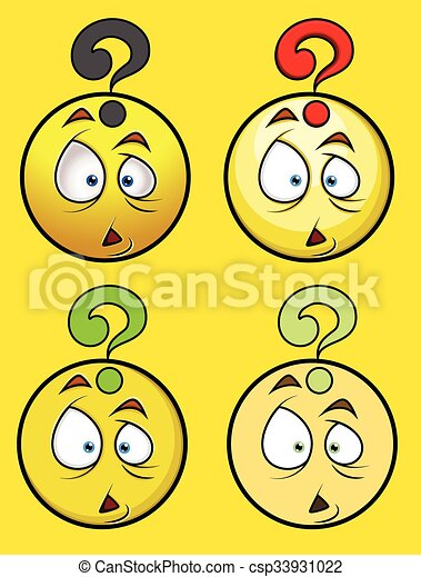 Questioned Smiley Set - csp33931022