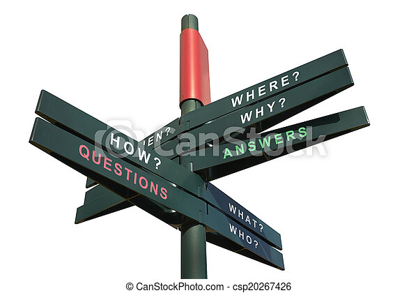 Questions and Answers signpost - csp20267426
