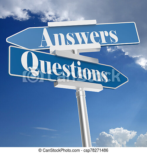 Questions and answers signs - csp78271486