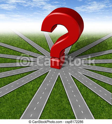 Questions and strategies symbol - csp8172286