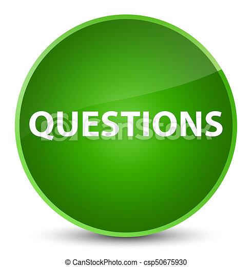 Questions elegant green round button - csp50675930