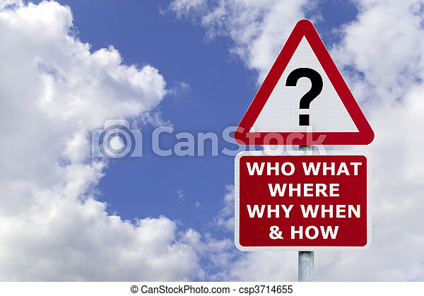 Questions signpost in the sky - csp3714655
