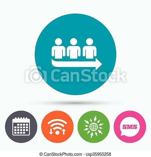 Wifi sms and calendar icons queue sign icon long turn symbol go wifi sms and calendar icons queue sign icon long turn symbol go to web globe ccuart Images