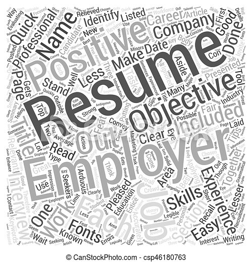 Quick Resume Writing Tips Evaluating Your Word Cloud Concept