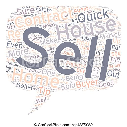Quick sell tips text background wordcloud concept - csp43370369