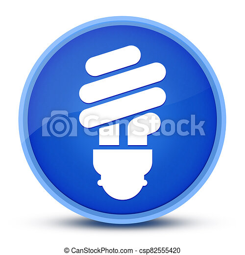 Quick tips (Bulb icon) isolated on special blue round button abstract - csp82555420