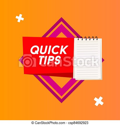 Quick tips Modern helpful tips banner Vector illustration - csp84692923