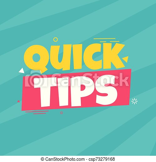 Quick tips vector illustration concept Colorful banner - csp73279168