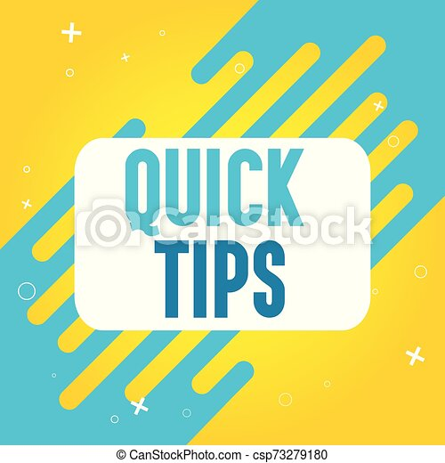 Quick tips vector illustration concept Colorful banner - csp73279180