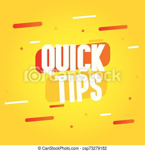 Quick tips vector illustration concept Colorful banner - csp73279182