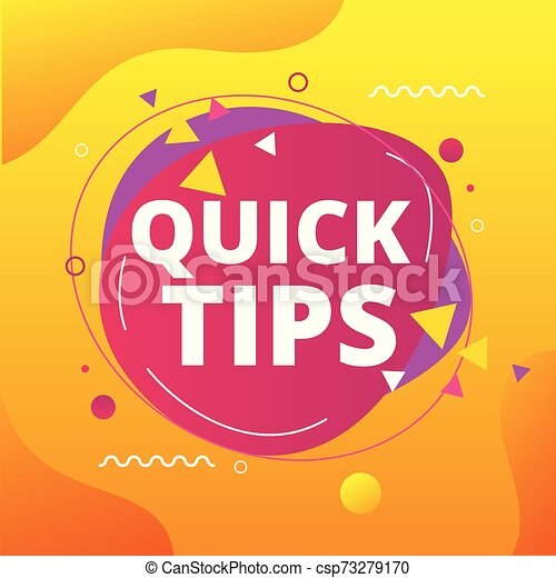 Quick tips vector illustration concept Colorful banner - csp73279170