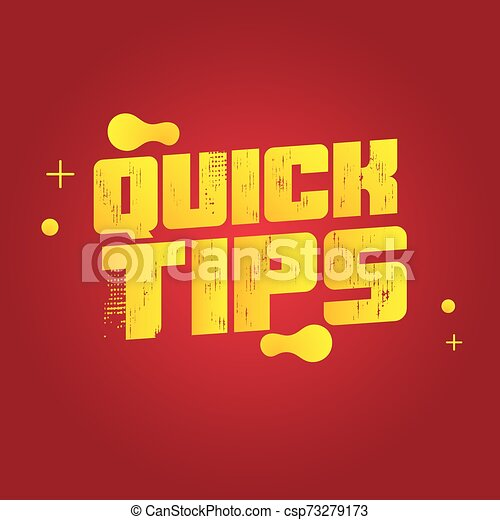 Quick tips vector illustration concept Colorful banner - csp73279173