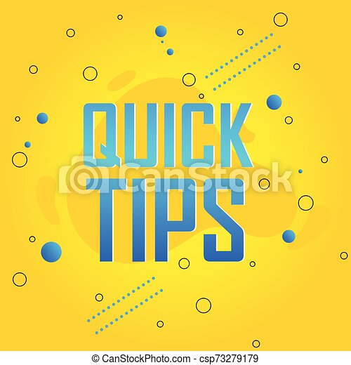 Quick tips vector illustration concept Colorful banner - csp73279179