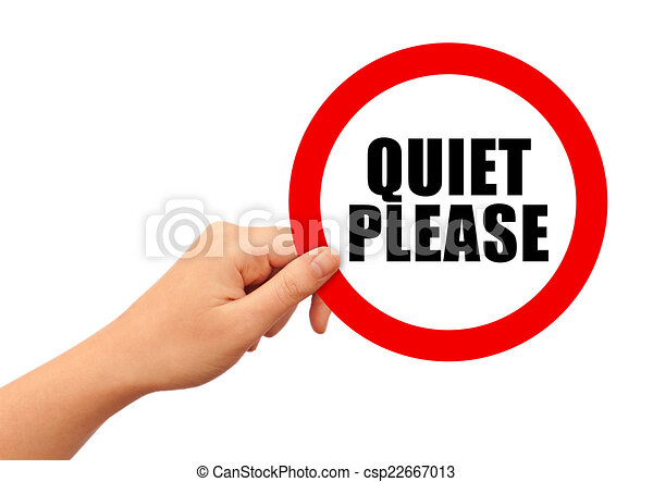 quiet please sign isolated on white background clipart search rh canstockphoto com clipart quietscheente clipart quiet sign