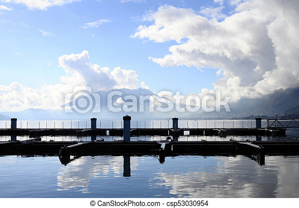 Quiet view of Annecy lake - csp53030954