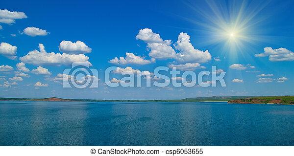 quiet water of lake - csp6053655