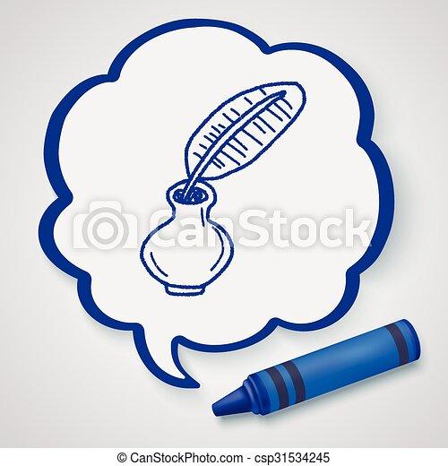 Quill doodle - csp31534245