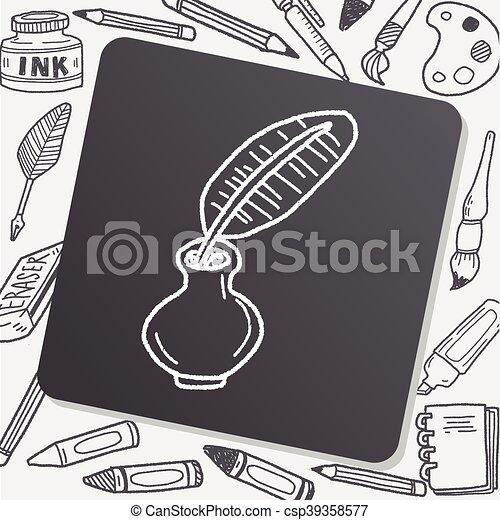 Quill doodle - csp39358577