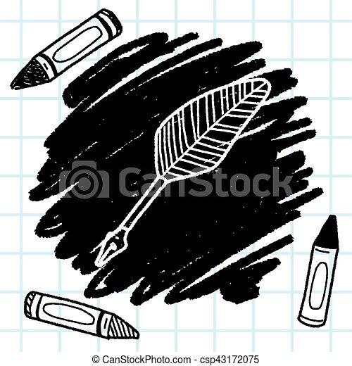 Quill doodle - csp43172075