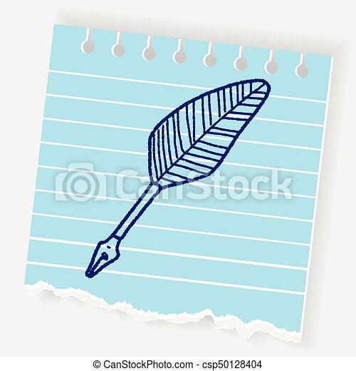 Quill doodle - csp50128404