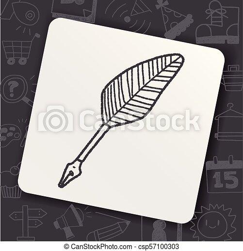 Quill doodle - csp57100303