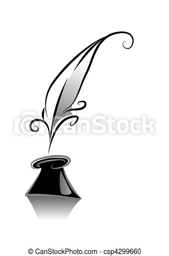 quill clip art and stock illustrations 6 807 quill eps rh canstockphoto com