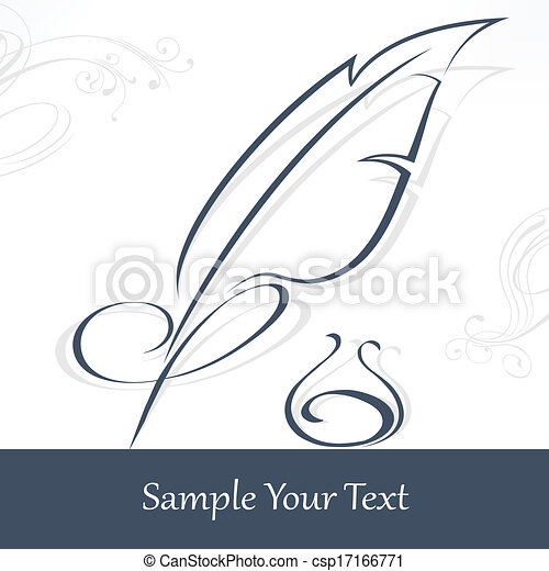 Quill pen and text - csp17166771