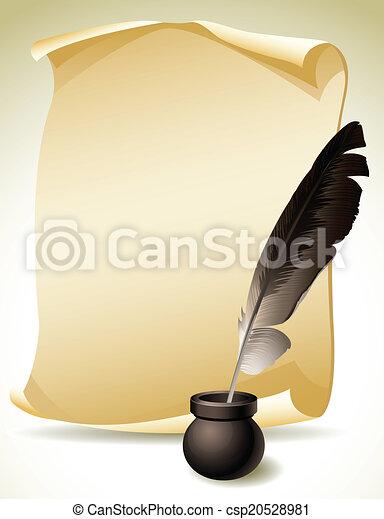 Quill Pen - csp20528981