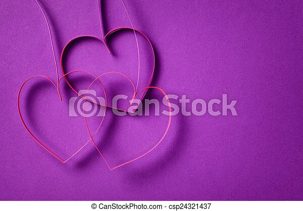 Quilling Paper Hearts Like Flowers Valentines Day Background