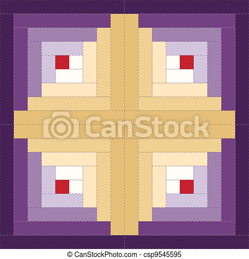 Quilt Block Log Cabin Pattern Log Cabin Quilt Block Barn Raising
