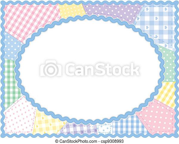 Quilt Frame, Pastel Patchwork  - csp9308993