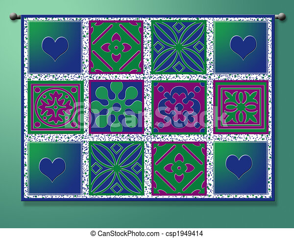 Quilt graphic hanging on rod drawing - Search Clip Art ... : quilt graphics - Adamdwight.com
