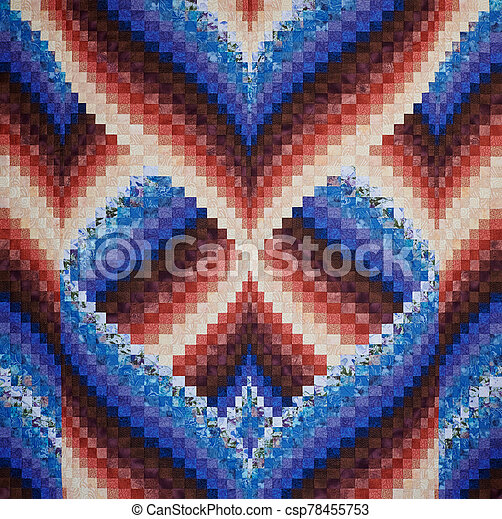 Quilt made in the style of bargello - csp78455753