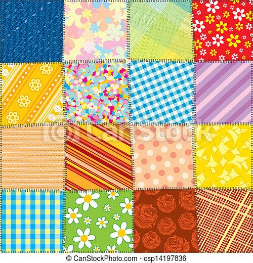 Quilt patchwork texture. seamless vector pattern. Quilt... vectors ... : quilt graphics - Adamdwight.com