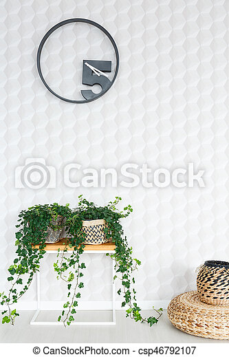 Quilted white wall - csp46792107