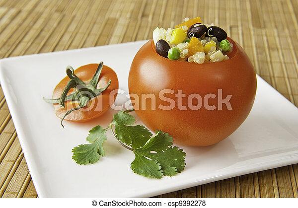 Quinoa Stuffed Tomato Appetizer - csp9392278