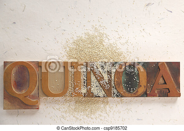 quinoa with word - csp9185702