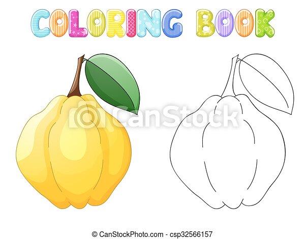 Quitte, weißes, färbung Clipart Vektor - Suche Illustration ...