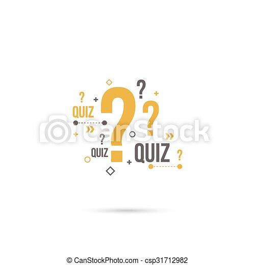 Quiz background vector - csp31712982