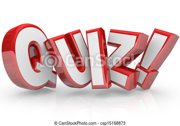 quiz red 3d word test exam assessment csp15168873