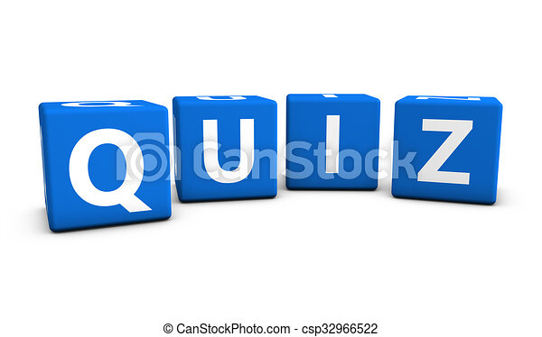 Quiz Sign Blue Cubes