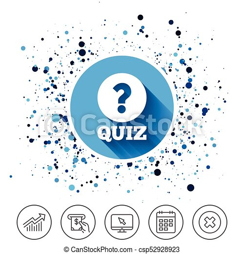 Quiz Sign Icon Questions And Answers Game Button On Vector