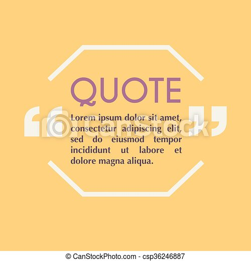 Quote blank template design elements circle business card template quote blank template design elements circle business card template paper sheet information text quote template for your design reheart Images