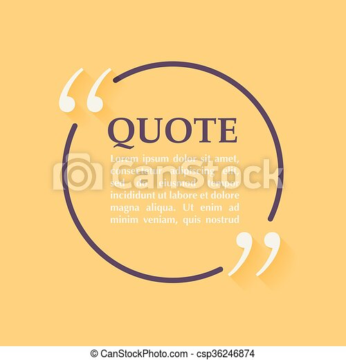 Quote blank template design elements circle business card template quote blank template design elements circle business card template paper sheet information text quote template for your design accmission Images