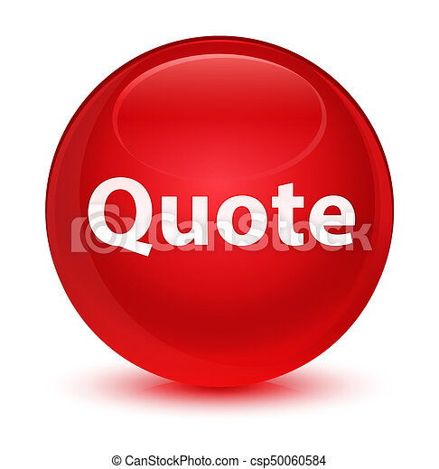 Quote glassy red round button - csp50060584