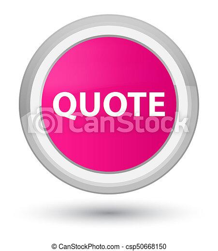 Quote prime pink round button - csp50668150